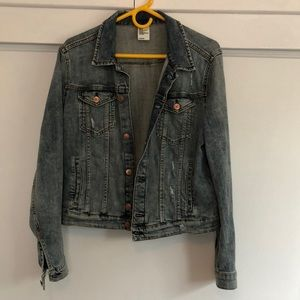 Distressed H&M denim jacket